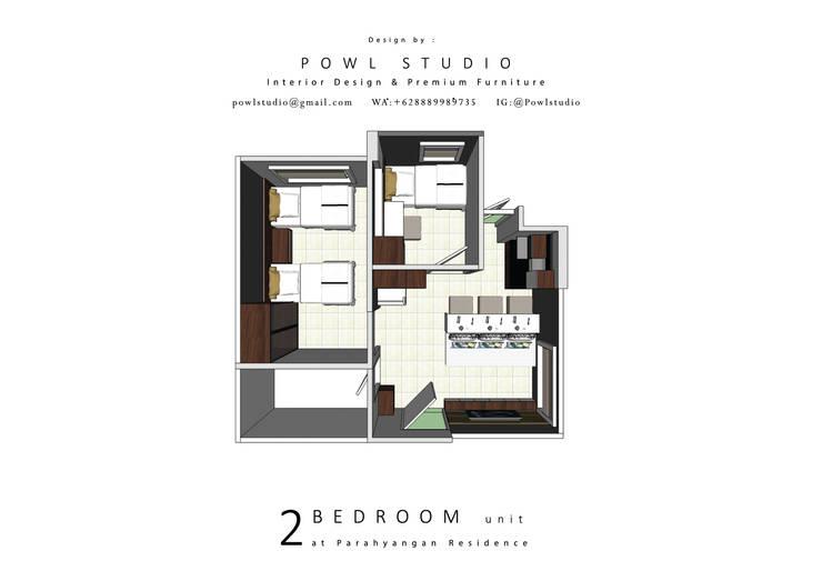 Parahyangan Residence 12 CH - Tipe 2 Bedroom:   by POWL Studio