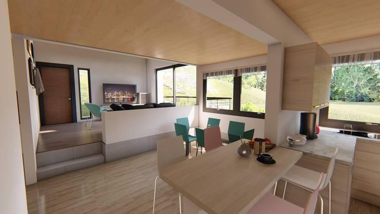 espacio interior : Comedores de estilo minimalista por Ekeko arquitectura