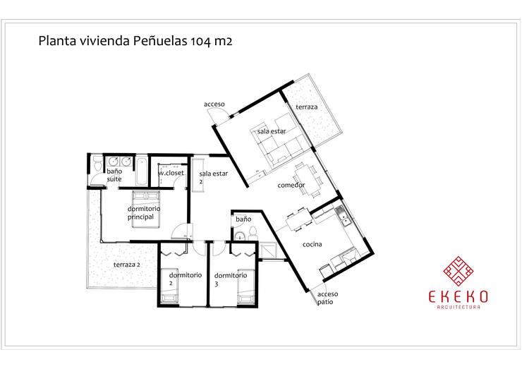 planta arquitectura:  de estilo  por Ekeko arquitectura  - Coquimbo