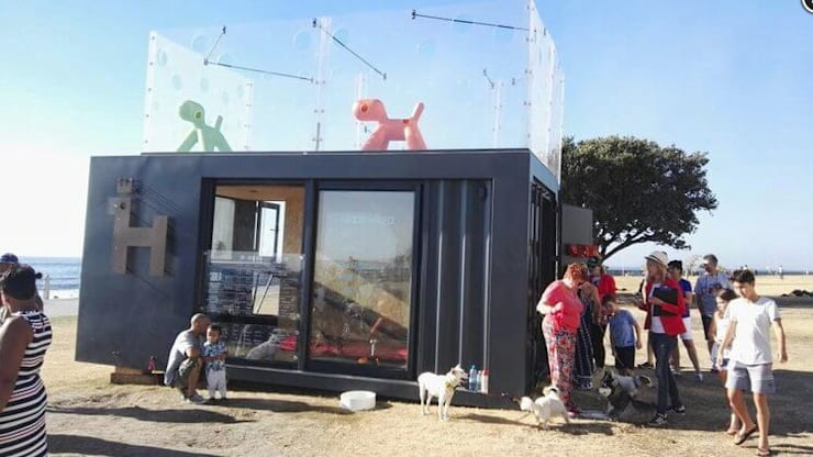 Container—Mobile Dog Adoption Centre in Cape Town:  Commercial Spaces by Container Rental and Sales (Pty) Ltd