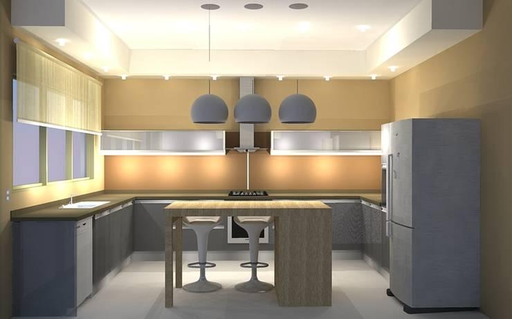 ESPACIO MULTI FUNCION: Cocinas de estilo  por lucia bernal arbuatti diseño interior,