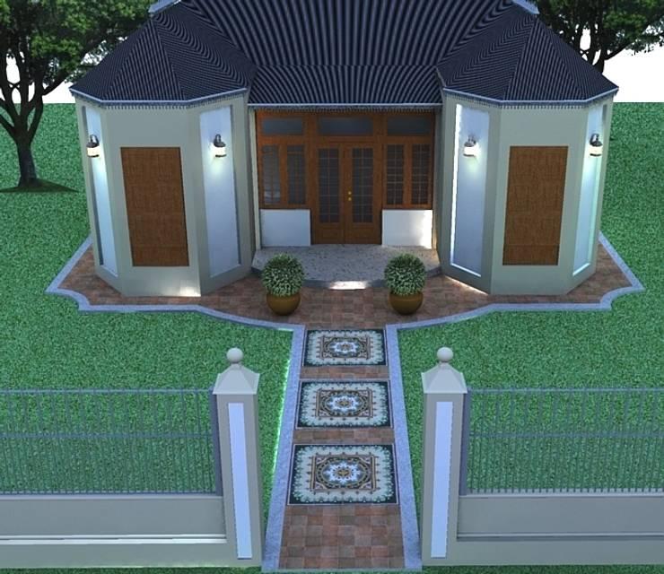 RESTAURACIÓN CASA ESTILO FRANCÉS: Casas de estilo  por lucia bernal arbuatti diseño interior,