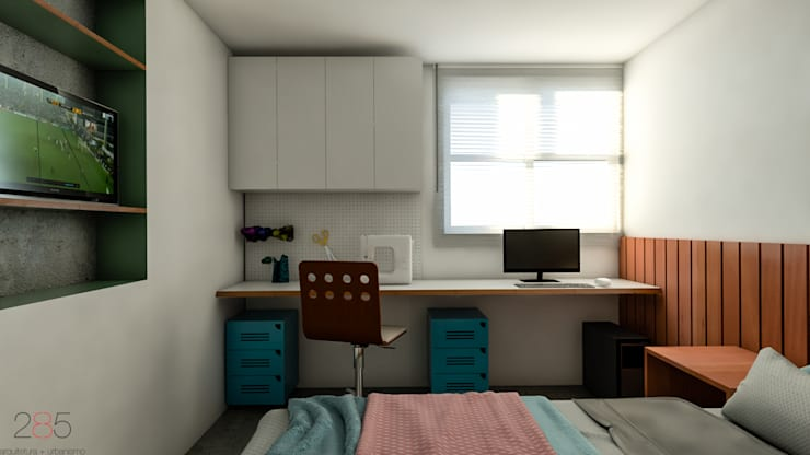 Apartamento DIV: Quartos  por 285 arquitetura e urbanismo
