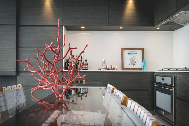 Casa de Playa: Cocina de estilo  por Cecilia Fernandini Estudio