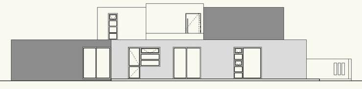 ELEVACION PONIENTE:  de estilo  por Cota Cero Arquitectos