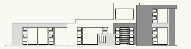 ELEVACION SUR (ACCESO):  de estilo  por Cota Cero Arquitectos