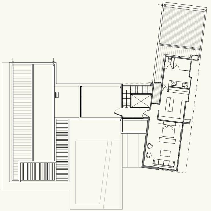 PLANTA 2º PISO:  de estilo  por Cota Cero Arquitectos