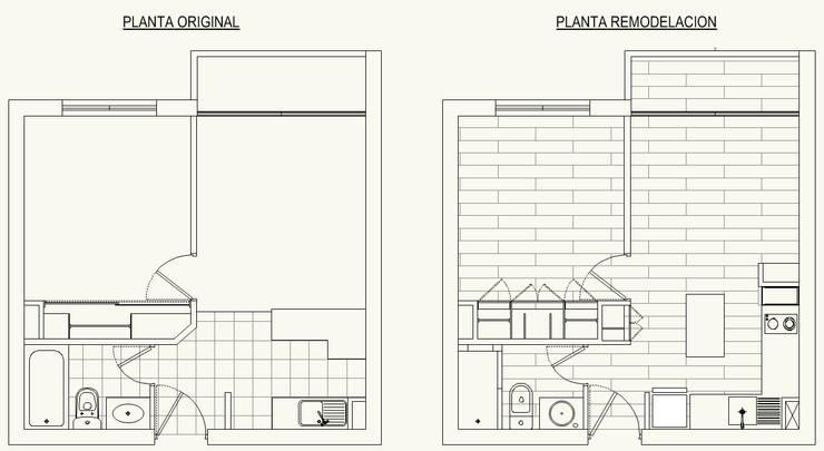 Plantas:  de estilo  por Cota Cero Arquitectos