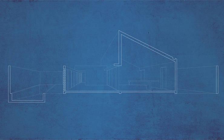 Casa en Machalí: Casas de estilo  por mutarestudio Arquitectura