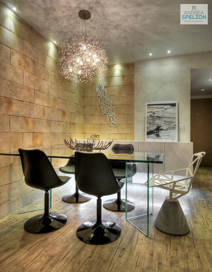Salas / recibidores de estilo  por Andréa Spelzon Interiores, Moderno