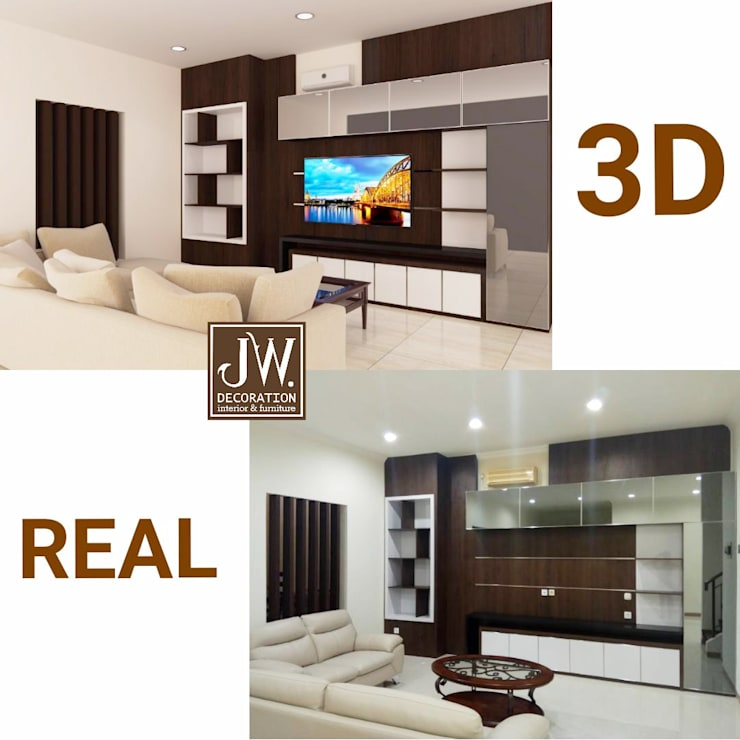 Living room by JW Decoration,