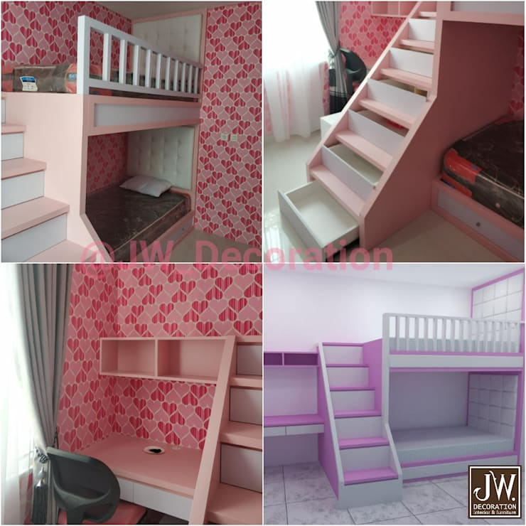 Pak Irwan, Serpong Paradise :  Bedroom by JW Decoration