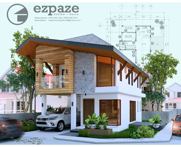 Modern tropical architecture:  Single family home by ezpaze design+build