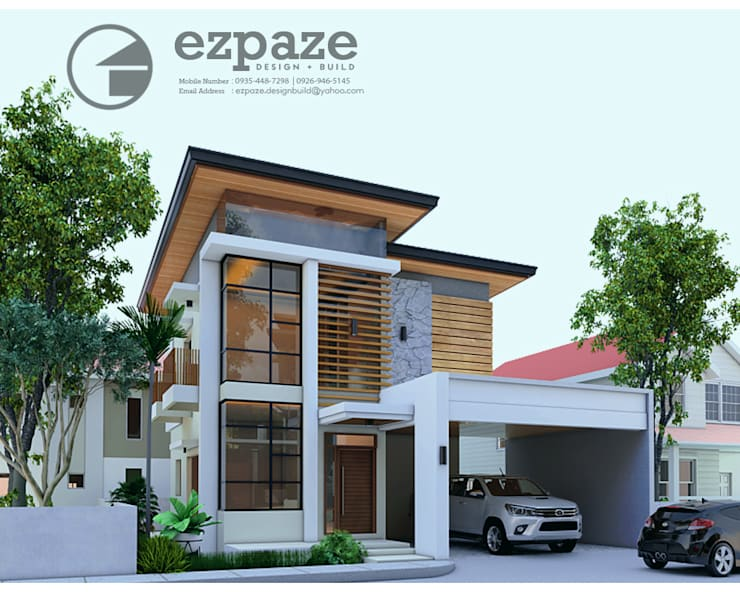 Modern asian style:  Single family home by ezpaze design+build