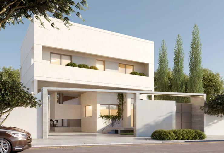 CASA JULI - BARRIO LOS ÁLAMOS - RÍO NEGRO: Casas de estilo  por Arq. Vieyra