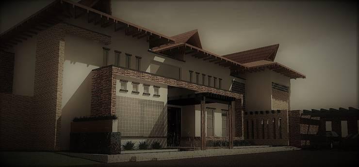 La Joya de cascajal: Casas campestres de estilo  por ACE Arquitectura Diseño y Construcción, Tropical