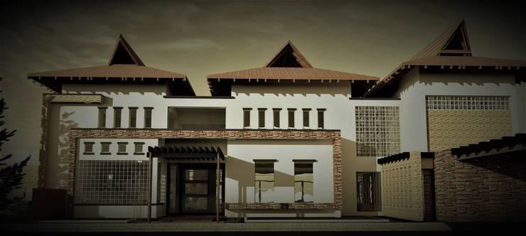 Joya de Cascajal: Casas campestres de estilo  por ACE Arquitectura Diseño y Construcción