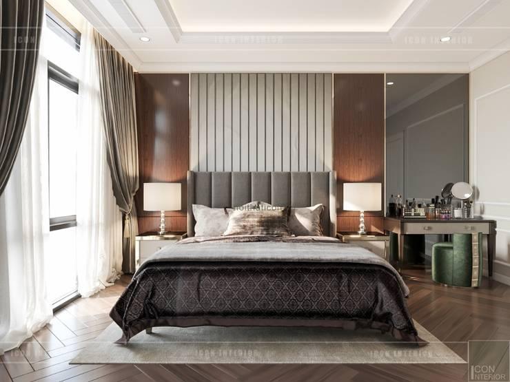 Thiết kế nội thất biệt thự phong cách Tân Cổ Điển sang trọng đẳng cấp:  Phòng ngủ by ICON INTERIOR