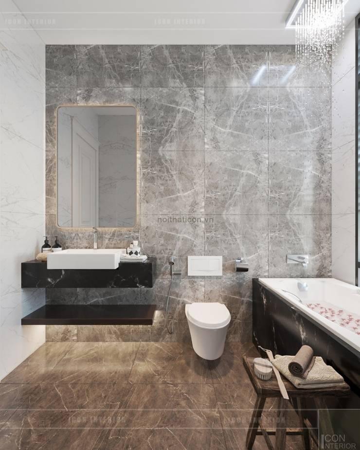 Thiết kế nội thất biệt thự phong cách Tân Cổ Điển sang trọng đẳng cấp:  Phòng tắm by ICON INTERIOR