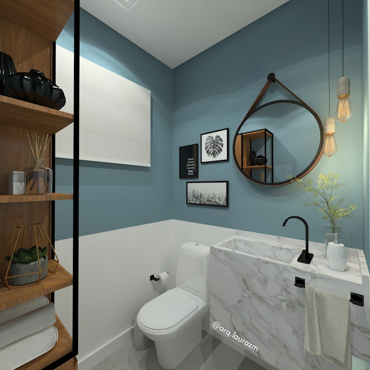 Baños de estilo  por Arquiteta Laura Zanatta Martins