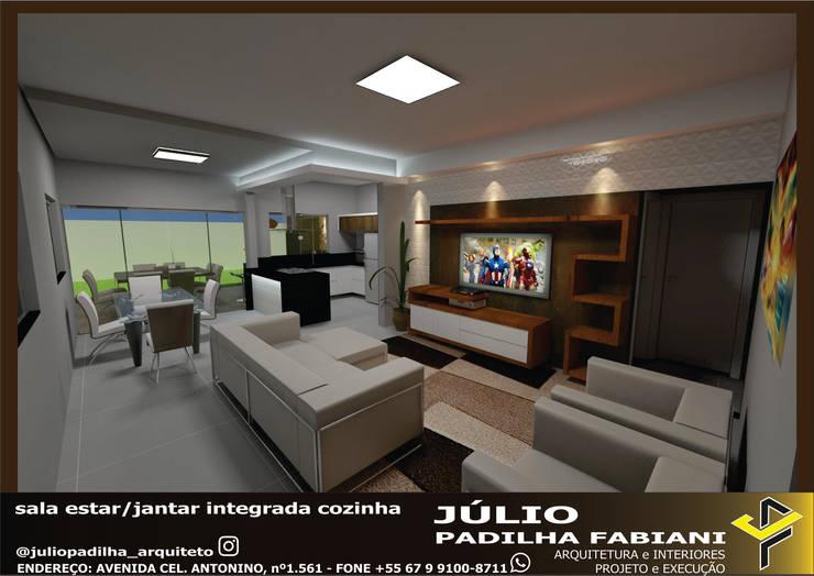 Sala de estar: Salas de estar  por Júlio Padilha Fabiani - Arquiteto