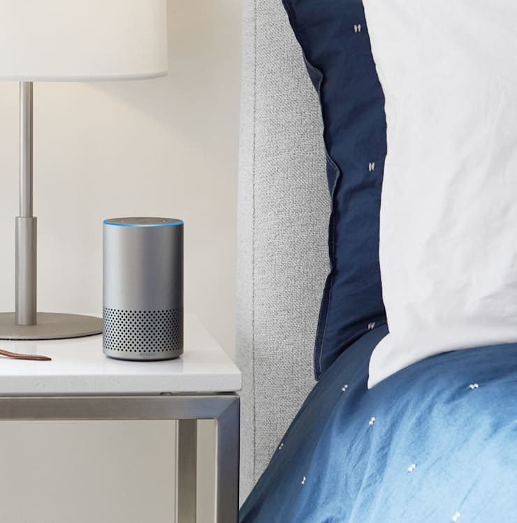 Dit is de Amazon Echo: modern  door Slimme Speaker, Modern Metaal