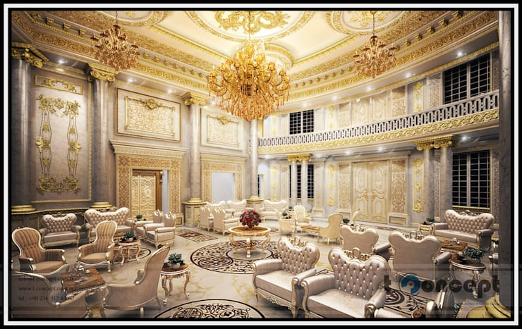 classic Living room by T Concept  |  Mavi Nokta Mimarlık