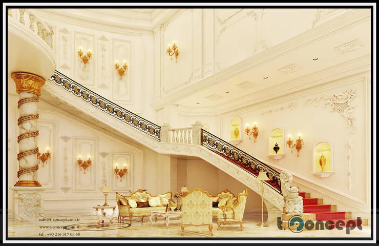 classic Corridor, hallway & stairs by T Concept  |  Mavi Nokta Mimarlık