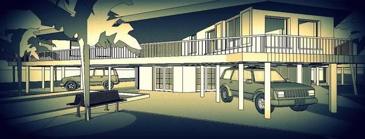 VISTA EXTERIOR: Casas unifamiliares de estilo  por Arq.SusanaCruz,