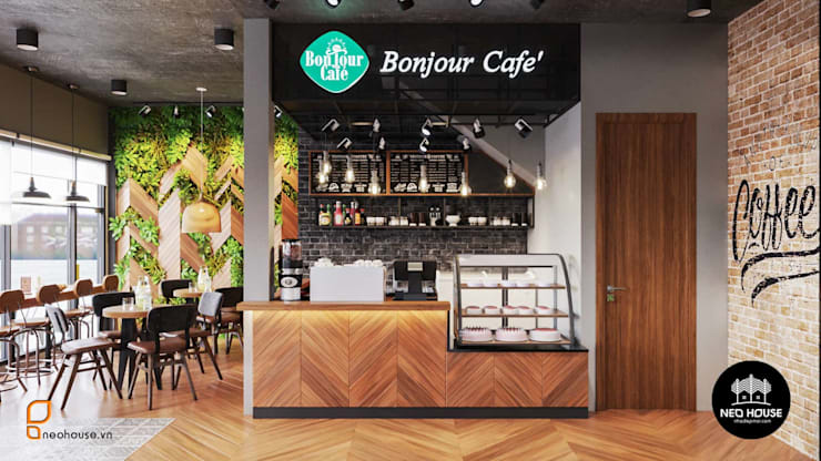Mẫu Thiết Kế Quán Cafe BonJour Theo Phong Cách Pháp:   by NEOHouse