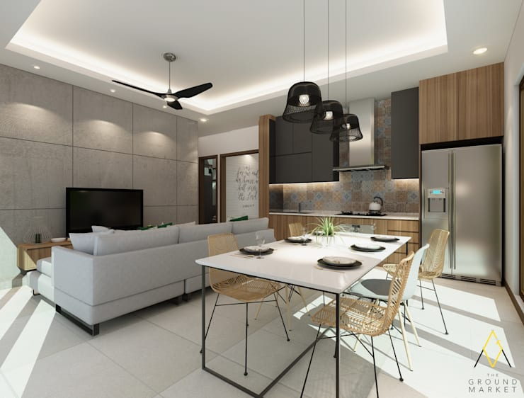 Living, Dining and Kitchen Area:   by The Ground Market