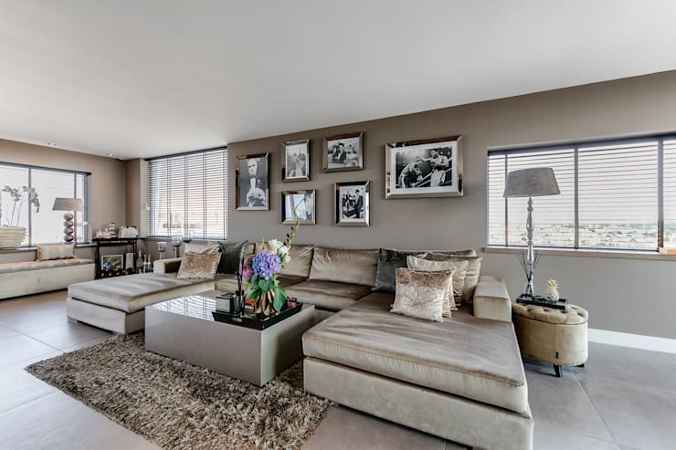 Interieurfotografie penthouse:  Woonkamer door Esther Scherpenzeel Fotografie, Modern