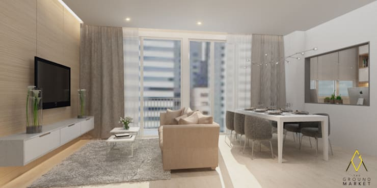 Living Dining Room:   by The Ground Market