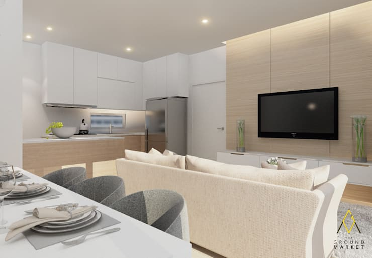 Kitchen & Living Room:   by The Ground Market