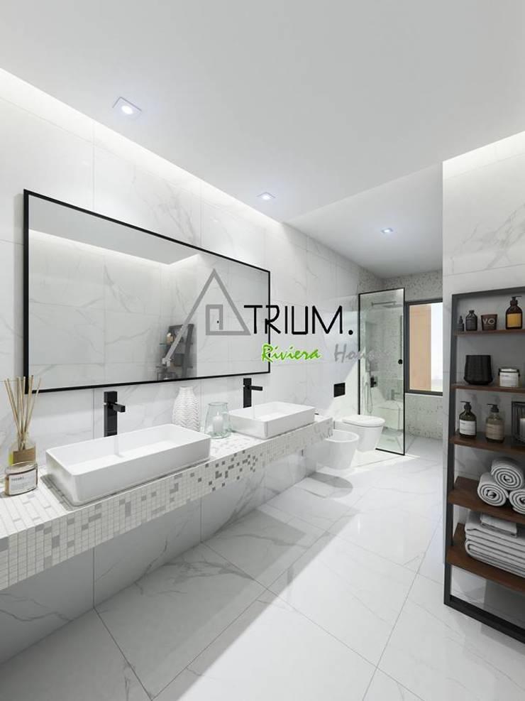 Single house—Cascais:  Bathroom by Atrium Projetos e Construção