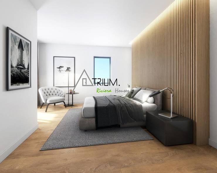 Single house—Cascais:  Bedroom by Atrium Projetos e Construção