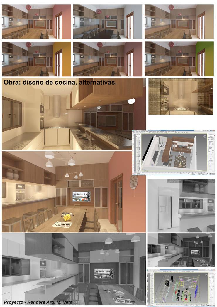 Proyectos de Cocinas por Manuel Vilte: Cocinas a medida  de estilo  por Arquitecto Manuel Daniel Vilte,Moderno