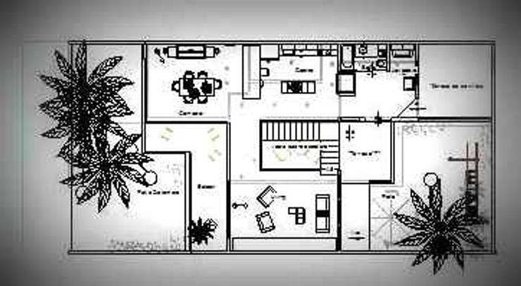 Planta Alta: Casas unifamiliares de estilo  por Arq.SusanaCruz