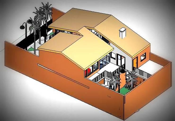Vista Aerea del Conjunto: Casas unifamiliares de estilo  por Arq.SusanaCruz