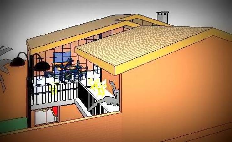 Vista aerea: Casas unifamiliares de estilo  por Arq.SusanaCruz,