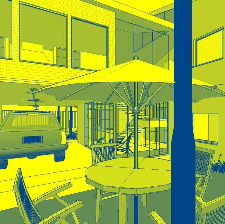 vista desde patio Interno: Casas unifamiliares de estilo  por Arq.SusanaCruz,