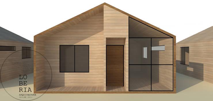 Diseño de Cabaña 41 por Lobería Arquitectura: Casas unifamiliares de estilo  por Loberia Arquitectura