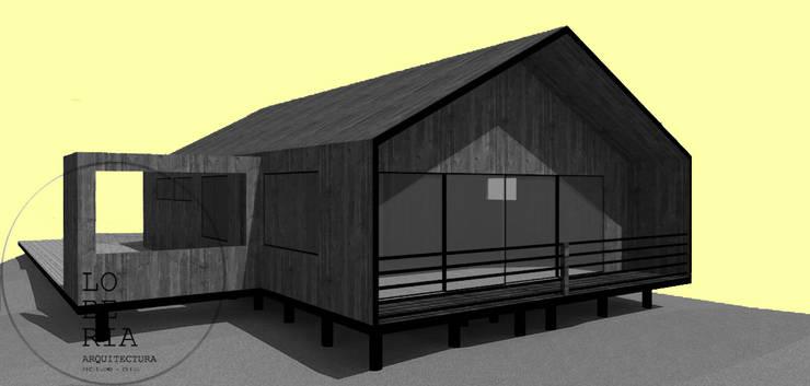 Diseño de Casa Barrera Quezada por Lobería Arquitectura: Casas unifamiliares de estilo  por Loberia Arquitectura
