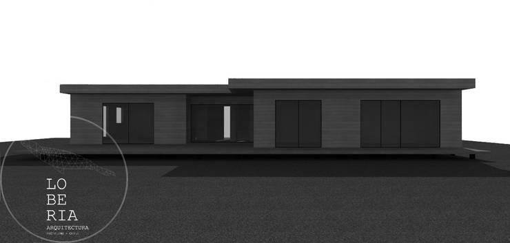 Diseño de Casa Max por Lobería Arquitectura: Casas unifamiliares de estilo  por Loberia Arquitectura