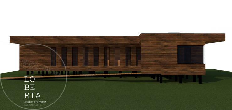 Diseño de Casa Catrianca por Lobería Arquitectura: Casas unifamiliares de estilo  por Loberia Arquitectura