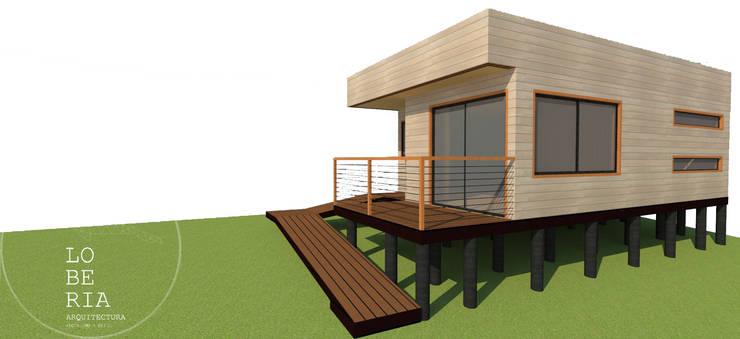 Diseño de Cabaña 52 por Lobería Arquitectura: Casas unifamiliares de estilo  por Loberia Arquitectura