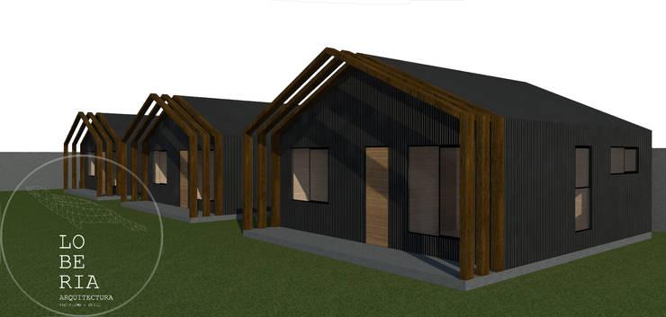 Diseño de Casa 40 por Lobería Arquitectura: Casas unifamiliares de estilo  por Loberia Arquitectura