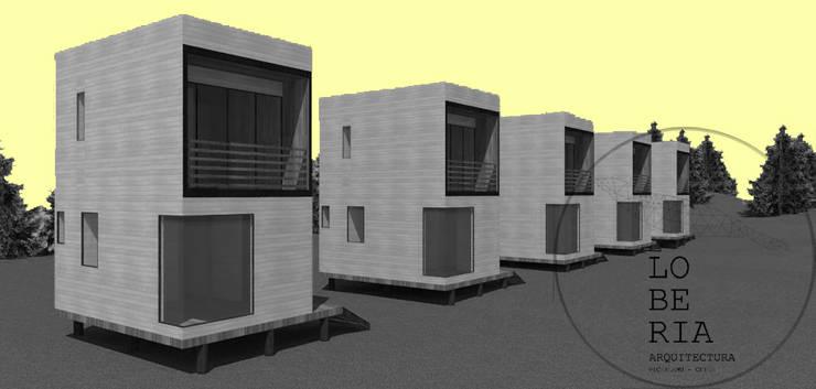 Diseño de Cabaña Monardes por Lobería Arquitectura: Casas unifamiliares de estilo  por Loberia Arquitectura