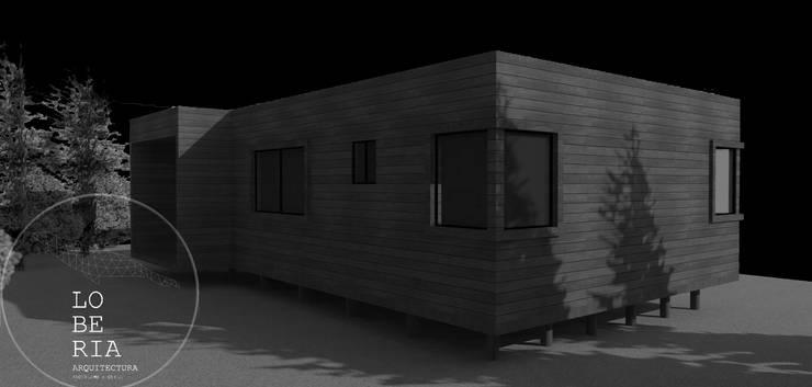 Diseño de Casa 63 por Lobería Arquitectura: Casas unifamiliares de estilo  por Loberia Arquitectura