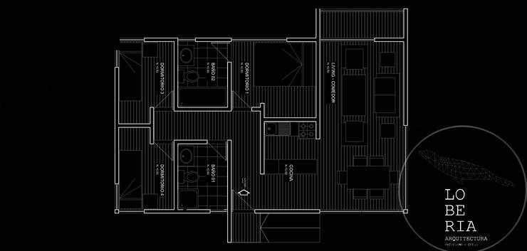 Diseño de Casa 63 por Lobería Arquitectura:  de estilo  por Loberia Arquitectura
